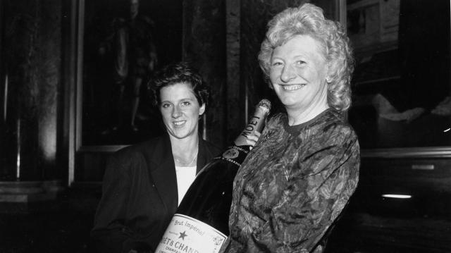 Sally Gunnell with Mary Peters in 1991